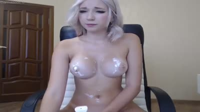 bars377 live show blonde tits fuck cream on nippels